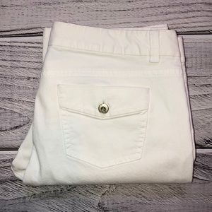 Ann Taylor Modern Fit White Lindsay Waist Jeans